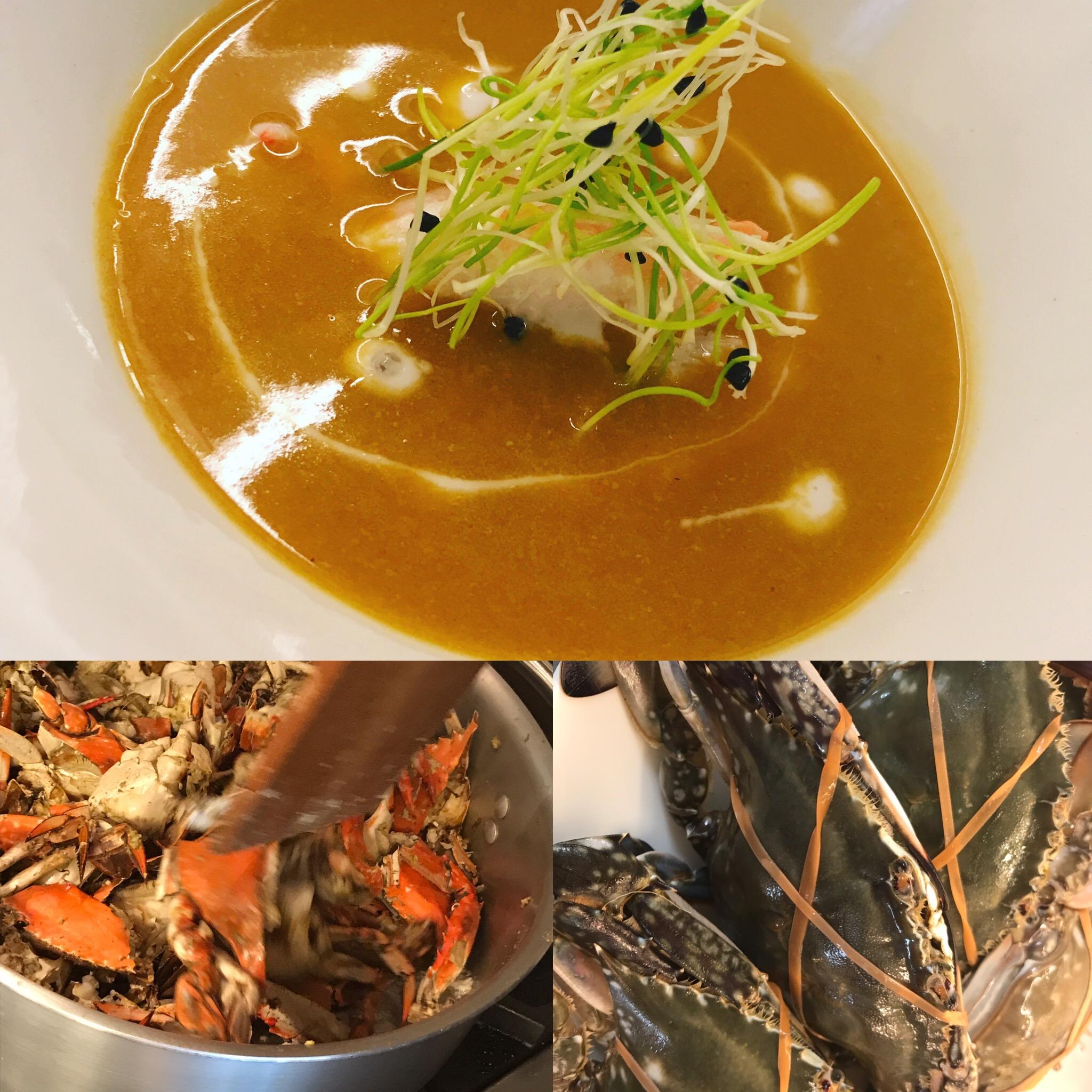 渡り蟹のスープ